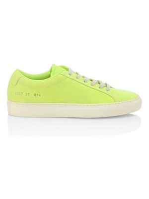 Common Projects achilles neon leather sneakers