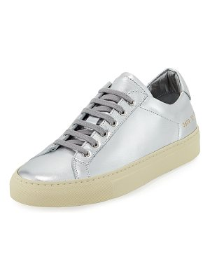 Common Projects Achilles Retro Low-Top Metallic Sneakers