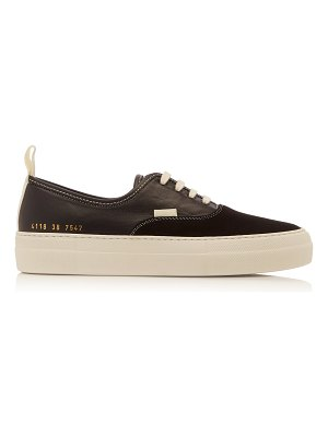 Common Projects four hole suede and leather sneakers size: 35