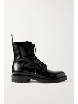Common Projects glossed-leather ankle boots