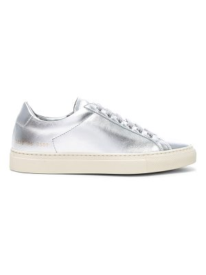 Common Projects Leather Retro Low Achilles Sneakers