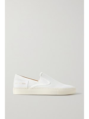 Common Projects leather-trimmed canvas slip-on sneakers