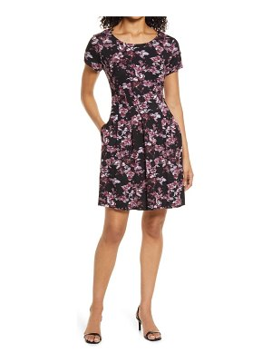 CONNECTED APPAREL floral pleated dress