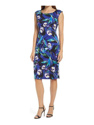 CONNECTED APPAREL floral sheath dress