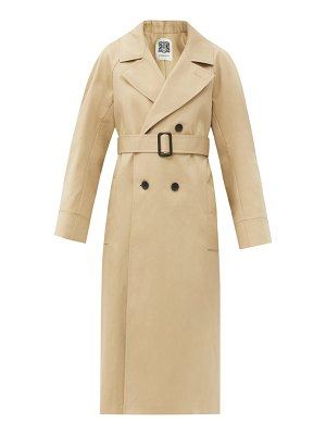 CONNOLLY belted cotton-gabardine trench coat