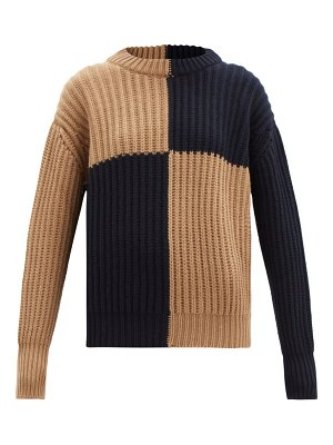 CONNOLLY block-colour ribbed wool sweater
