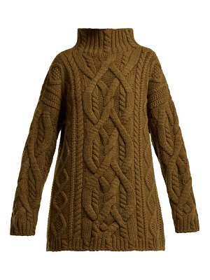 CONNOLLY cable knit wool and cashmere blend sweater