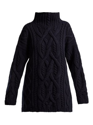 CONNOLLY cable knitted wool and cashmere sweater