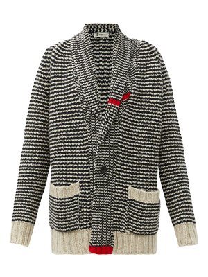CONNOLLY cappercaille striped cashmere cardigan
