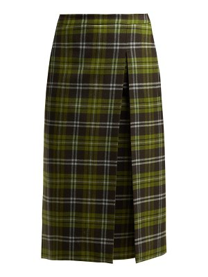 CONNOLLY Checked Wool Blend Skirt