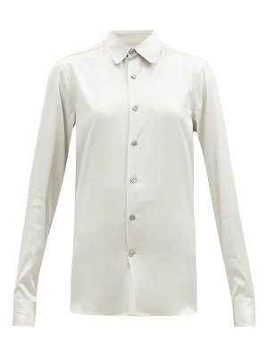 CONNOLLY club-collar silk-blend satin shirt