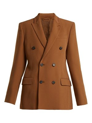 CONNOLLY Crepe double-breasted tailored jacket