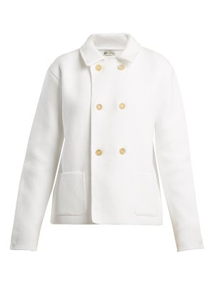 CONNOLLY Double-breasted cotton-piqué cardigan