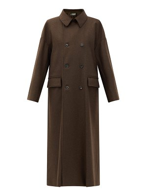 CONNOLLY double-breasted yak-wool coat