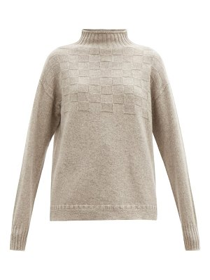 CONNOLLY high-neck basketweave merino-wool blend sweater