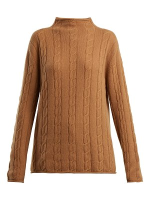CONNOLLY High Neck Cable Knit Cashmere Sweater