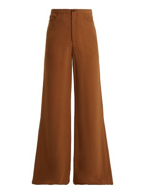 CONNOLLY High Rise Wide Leg Crepe Trousers