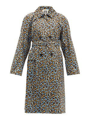CONNOLLY leopard print cotton trench coat