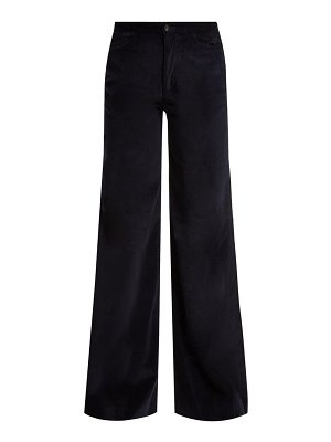 CONNOLLY needle wide leg corduroy trousers