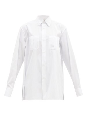 CONNOLLY oversized club-collar cotton-poplin shirt