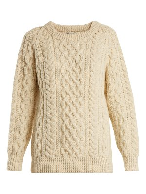 CONNOLLY Round Neck Cable Knit Wool Sweater