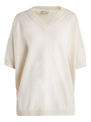 CONNOLLY V-neck cashmere and linen-blend sweater