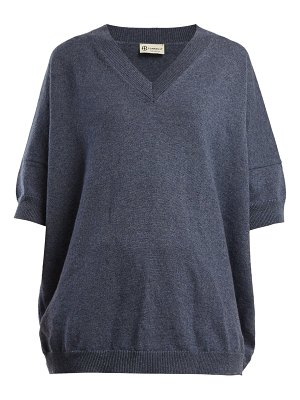 CONNOLLY V Neck Cashmere And Linen Blend Sweater