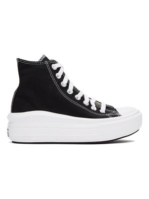Converse black chuck taylor all star move sneakers