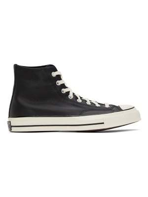 Converse black leather chuck 70 high sneakers