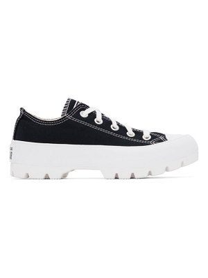 Converse black lugged chuck taylor all star low sneakers
