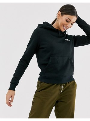 Converse black star chevron embroidered pull over hoodie