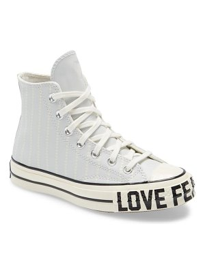 Converse chuck taylor all star 70 love fearlessly high top leather sneaker