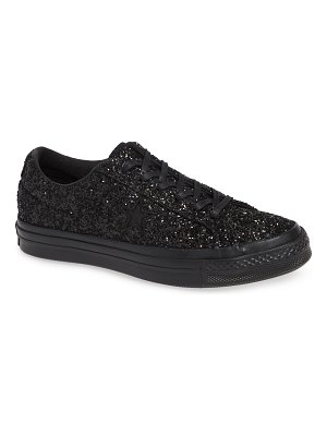 Converse chuck taylor all star one star glitter low top sneaker