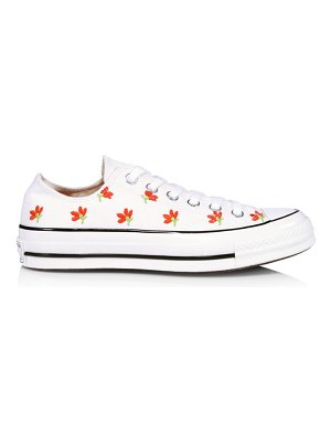 Converse garden party chuck 70 embroidered canvas low-top sneakers