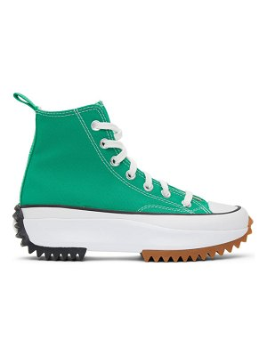 Converse green run star hike high sneakers