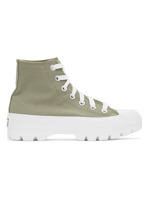 Converse khaki lugged utility chuck taylor all star hi sneakers