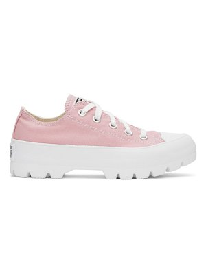 Converse pink lugged chuck taylor all star sneakers