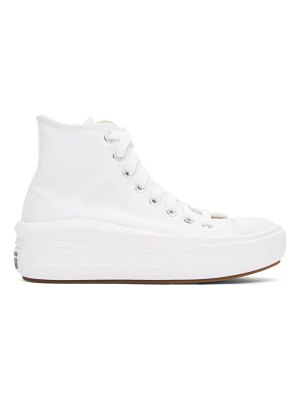 Converse white chuck taylor all star move sneakers