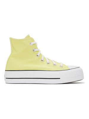 Converse yellow color platform chuck taylor all star high sneakers
