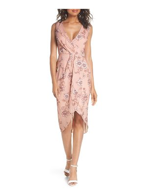 COOPER ST fiorella floral draped sheath dress