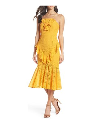 COOPER ST garland frill lace midi dress