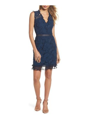 COOPER ST lustrous lace sheath dress