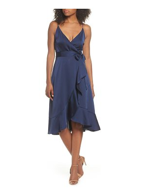 COOPER ST marilyn satin faux wrap dress