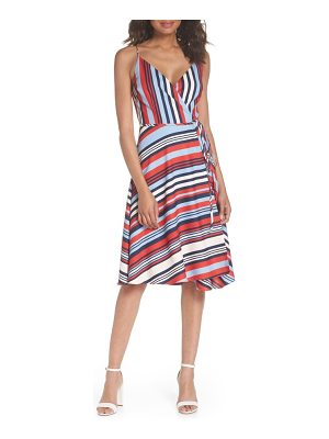 COOPER ST milan stripe wrap dress