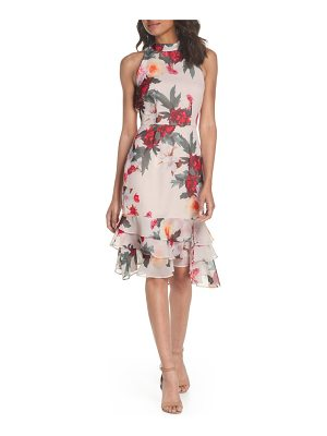 COOPER ST rosa high neck ruffle hem dress