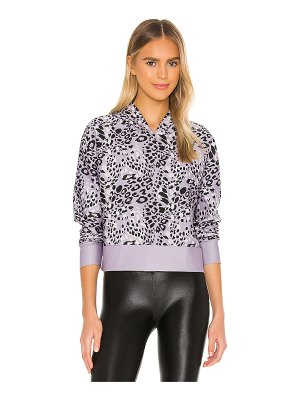 COR designed by Ultracor leopard star cropped hoodie