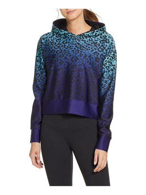 COR designed by Ultracor ombre leopard crop hoodie