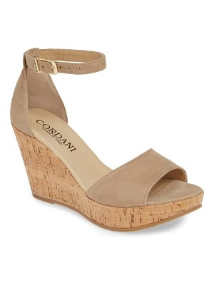 Cordani cork wedge sandal