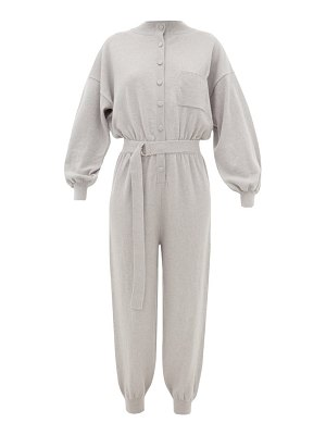 Cordova belted wool-blend jumpsuit