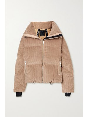 Cordova mont blanc hooded quilted corduroy down jacket